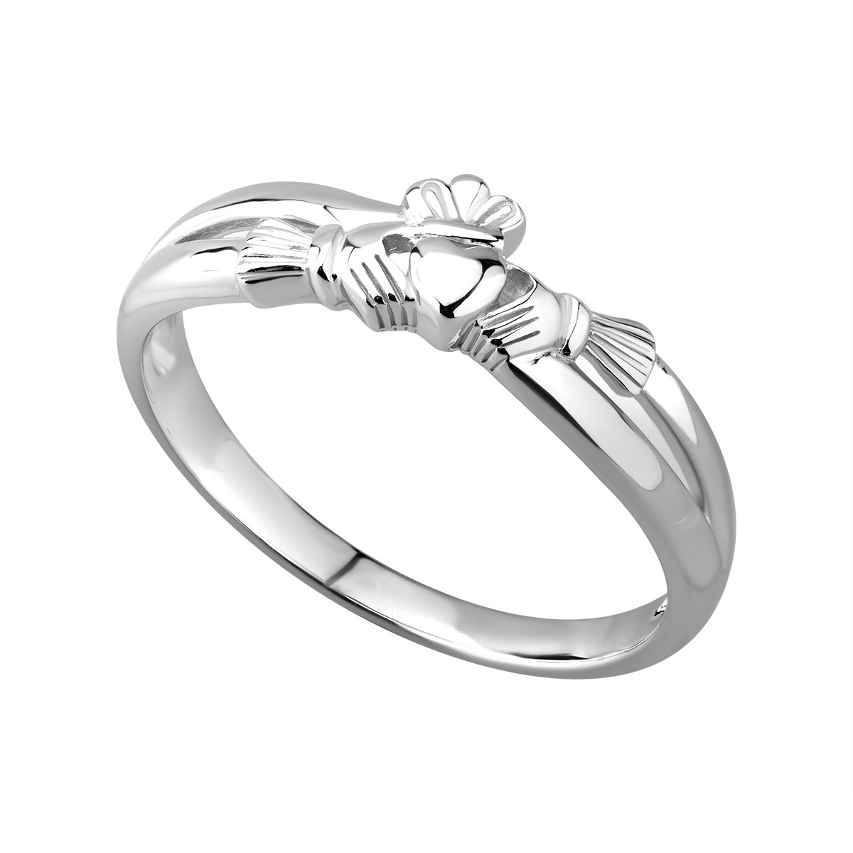 sterling silver claddagh kiss ring s2750 from Solvar