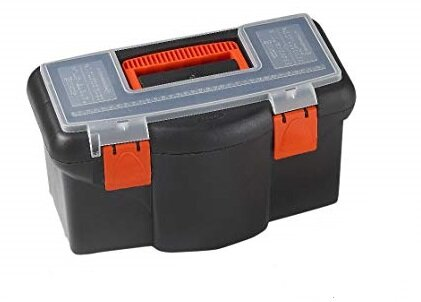 TOOD PLASTIC TOOL BOX BLACK 16'' (42 CM)