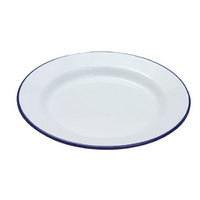 Falcon 26cm Enamel Dinner Plate, white