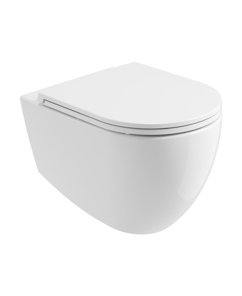 ALVAR WALL HUNG RIMLESS WC & SEAT - CERA