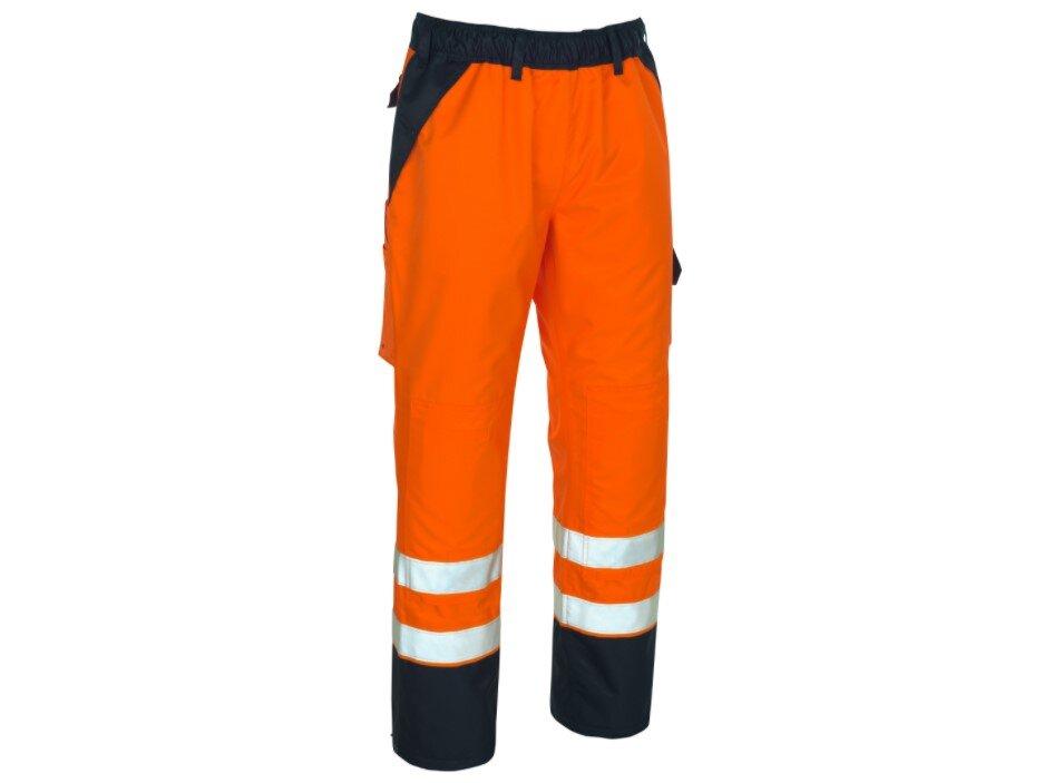 MASCOT Linz Hi-Vis Waterproof Trousers Orange/Navy