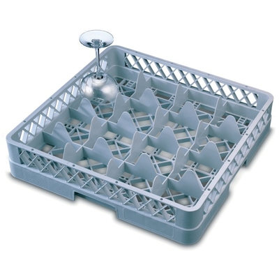 Glass Rack 16 Compartment with 2 Grey Extenders
