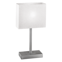 EGLO Pueblo 1 Satin Nickel with Beige Shade Table Lamp | LV1902.0077