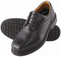 Steel Blue Manly Lace Up Safety Shoe Black
