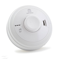 HEAT ALARM, 3000 SERIES,MAINS POWERED WITH 10 YEAR RECHARGEABLE LITHIUM CELL BACK-UP EASI-FIT BASE.
