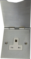 MK ALBANY BRUSHED CHROME 13A FLOOR SOCKET SINGLE