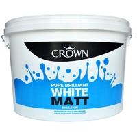 CROWN MATT EMULSION PAINT BRILLIANT WHITE  9 LTR