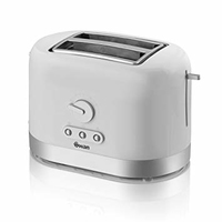SWAN 2 SLICE TOASTER WHITE