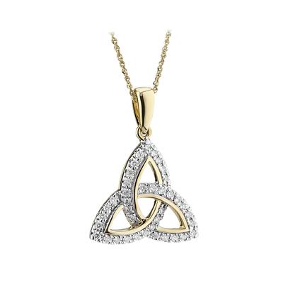 14K DIAMOND TRINITY PENDANT