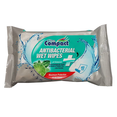 Antibacterial Wet Wipes 40 Pk Lime Scented