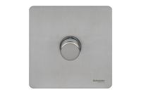 Schneider 1g 2way Mains & Low Voltage Stainless Steel|LV0701.2310