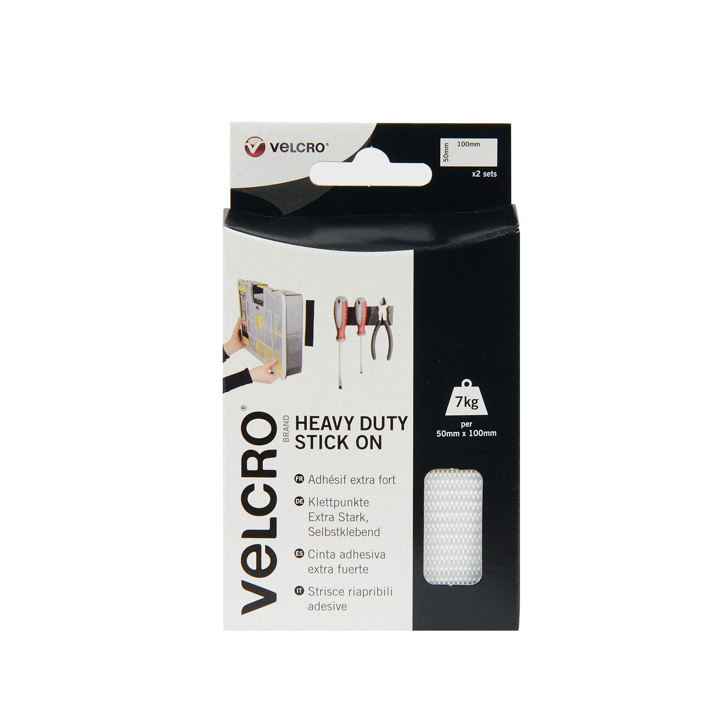 VELCRO 16 MM STICK ON COINS WHITE