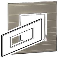 Arteor (British Standard) Plate 6 Module Square Formal | LV0501.0348