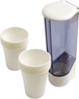DRINKING CUP DISPENSER WALL MTED