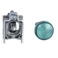 LED Panel Mount Indicator, Green, 120 VAC, 22 mm, IP66, NEMA 4X, NEMA 13