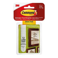 17206-12 Command Large Picture Hanging Strips 12pk