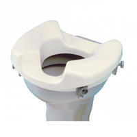 Wide access toilet seat