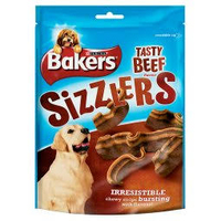 Bakers Treat Sizzlers Beef 90g x 6