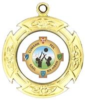 40mm Gold Celtic Cross Polished Backed Medal