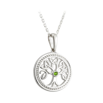 sterling silver small tree of life pendant s45365 from Solvar