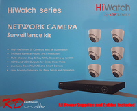 HiWatch IP 4MP 8 Channel 6 Camera KIT