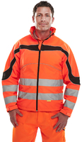 B-Seen Eton Hi-visibility Orange Soft Shell Jacket