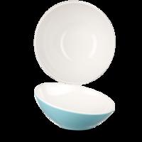 Plastic Tilt Melamine Bowl Turq 25Cm Carton of 4