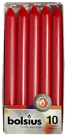 """Red Dinner Candles  9"""" (230mm) Pack of 10"""