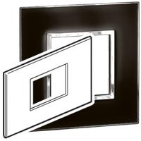 Arteor (British Standard) Plate 3 Module Mirror Black | LV0501.0155