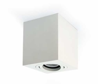 Square GU10 Surface Spot White with White Trim | LV1202.0087