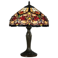 "14"" Chemistry Tiffany Glass Table Lamp"