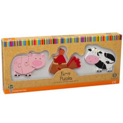 Farm Animal Puzzle Set - boxed
