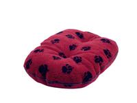 "Danish Design Oval Fleece Mattress - Wine Red 21"" x 1"