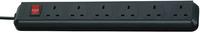 1159503 ECO-LINE EXT.SOCKET 6-WAY BLACK 1.5MT 05VV-F  3G1,25