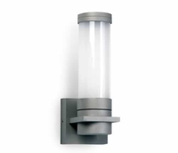 ONE Light Grey Single Surface Wall Light with Opaque Glass E27