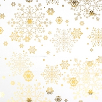 WHITE/GOLD COATED CHRISTMAS SNOWFLAKE