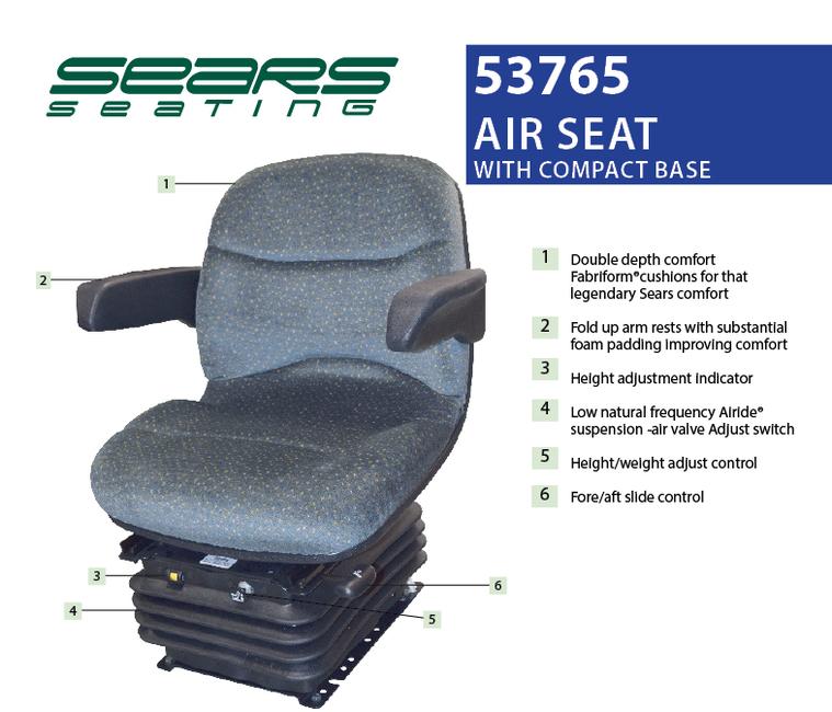 Sears Tractor Air Ride Seats : Siège à suspension pneumatique quality tractor parts ltd