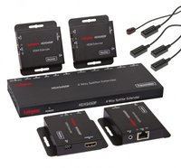 Labgear HDMI 50m 4 Way Splitter Extender Kit With POE Over CAT 5e/6/7