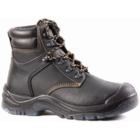 Bison Wolf Steel Toe Lace Up Safety Boot c/w Scuff Cap Black