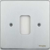 Schneider Ultimate Low Profile Grid Plate 1 gang Brushed Chrome | LV0701.1250