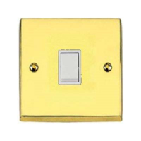 VICTORIAN BRASS HERITAGE SWITCH 1 GANG 2 WAY