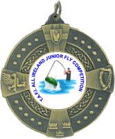 50mm 4 Province Medallion (Antique Gold)