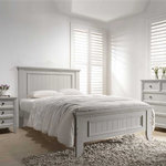 Mila Panelled Bed - Clay in room setting