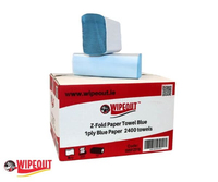 Z-Fold hand towel blue