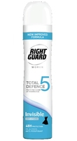 Right Guard Total Defence 5 Women Invisible Aerosol 250ml