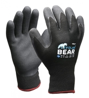 Polar Bear Thermo Winter Gloves Grey/Black Pkt 12