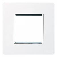 ScrewlessFlatplate 2g euro mod plate White|LV0701.0271