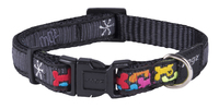 "Rogz Multi Bone XL (Armed Response) Adjustable Collar 17""-29"" x 1"