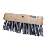 330mm Round Bracket Yard Broom Black & White, Stiff, Each