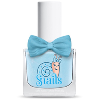Baby blue kids-safe nail polish that washes off with soap and water.